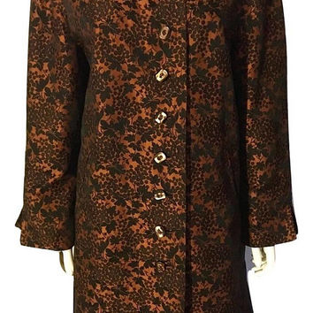 Vintage 60's Brocade Jacket, Kimono Jacket, Brocade Coat