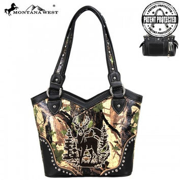 Montana West MW44G-8096 Concealed Carry Camo Handbag