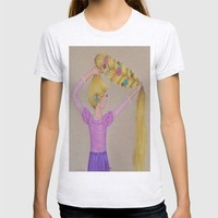 Rapunzel the Lost Princess T-shirt by Sierra Christy Art