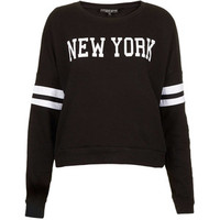 TOPSHOP Petite New York Motif Sweat