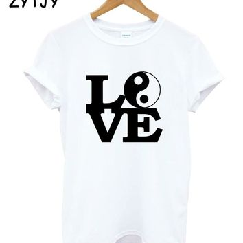 LOVE YIN YANG Print Women Tshirt Cotton Casual Funny t Shirt For Girl Top Tee Hipster Tumblr Drop Ship HH-19