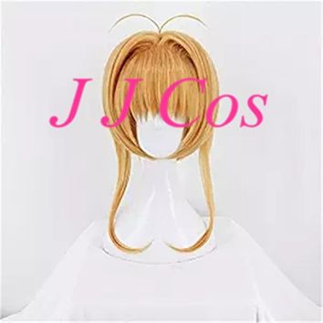 Anime Card Captor Sakura Clear Card Sakura Kinomoto Tomoyo Daidouji Cosplay Costume Women Girls' Party Party Hair