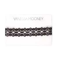 Black Wide Lace Choker | Vanessa Mooney Jewelry