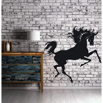 Wall Stickers Vinyl Decal Magnificent Beauty Horse Mane Tail  Unique Gift (n032)