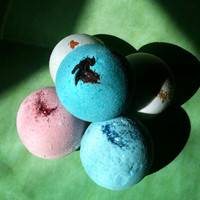 Gift Basket of FIVE full size 5 oz Feng Shui Elements Aromatherapy In home Spa Bath bombs