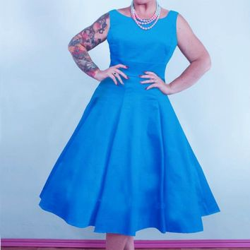 Turquoise Swing Dress