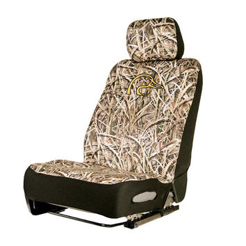 Ducks Unlimited Mossy Oak Shadow Grass Blades Camo Neoprene Low Back Seat Cover