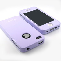 G&J Brand Prime Laverder Slim hard Silicone case cover+screen for iPhone 4 4S 4G