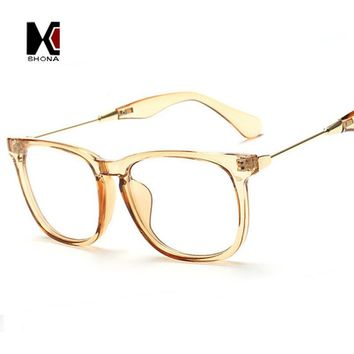 SHAUNA Fashion Champagne Women Square Glasses Frame Brand Designer Men Original Clear Lens Glasses Eyeglasses