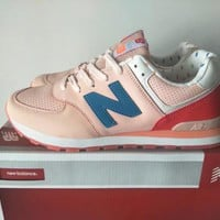 New Balance 574 Women Sport Casual Multicolor N Words Sneakers Running Shoes