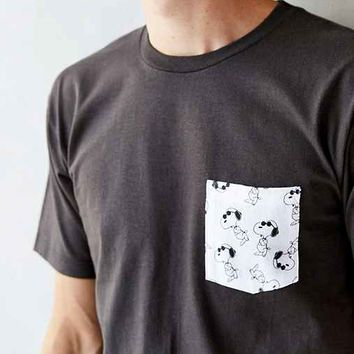 Snoopy Pocket Tee- Black & White