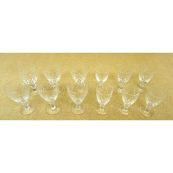 Etched Crystal Wine Glasses 2 sets of 6