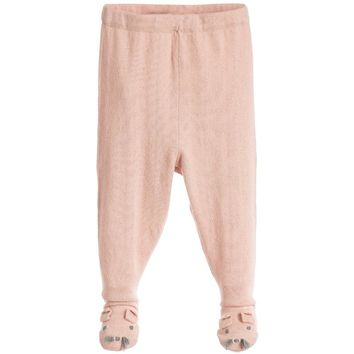 Stella McCartney Baby Girls Pink Cotton/Cashmere Tights