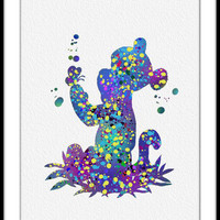 Tigger Watercolor Art Print