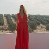 Red gown | Kaoâ - English Fashion and lifestyle brand for contemporary independent woman.