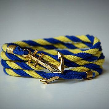 Anchor bracelet Ukraine. Rope cotton. Sea bracelet. Navy bracelet. Nautical bracelet. Men bracelet. Women bracelet