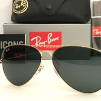 AUTHENTIC RAYBAN AVIATOR Sunglasses Gold Frame RB3026 Size 62