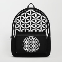 Flower of Life Yin Yang Backpacks by Azima