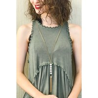 Pearls Chain Tassel Necklace