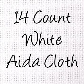 Aida 14-Count White Cross Stitch Cloth