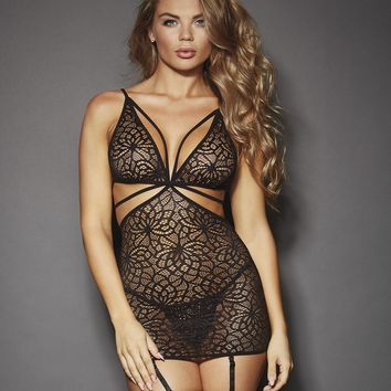 Mosaic Lace Garter Dress