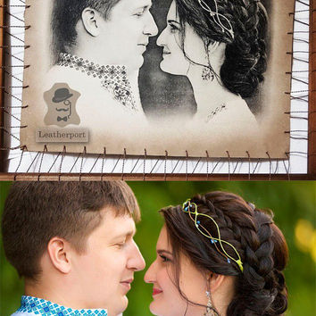 Wedding Anniversary Gifts For Husband Leather Personalised Portrait From Photo 3rd Wedding Anniversary Greetings For Wife Presents For Her