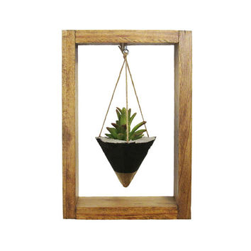 Air Planter, Wall Planter, Concrete Planter, Succulent Planter, Air Plant Holder, Modern Planter, Wood Planter, Gold Planter, Shadow Box