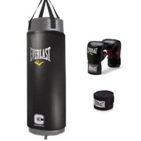 Everlast C3 Foam Heavy Bag Kit (Grey, 100-Pounds)