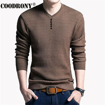 Sweater Men Casual V-Neck Pullover Men Autumn Slim Fit Long Sleeve Shirt Mens Sweaters