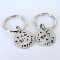 Best Friend Keychains- Couple Keychain Pair