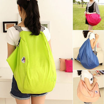 Folding Nylon Women Travel Bags Luggage Bags Backpacks Travel Shoulder Bag Pouch  7_S [7669448646]