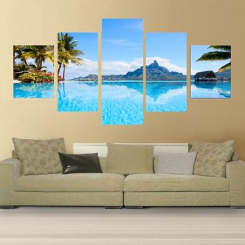 5 piece decorative pictures for the living room home