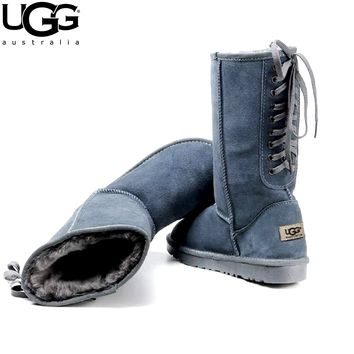 Free shipping-UGG lace-up women's boots snow boots high boots