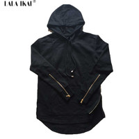 Men Hooded Side Zipper