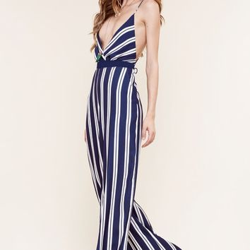 The Jetset Diaries Palace Jumpsuit in Stripe
