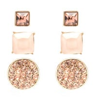 Peachy Stud Earrings Set