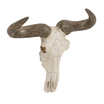 Matchless Polystone Wall Steer Skull