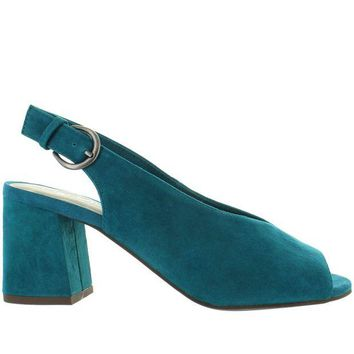 ONETOW Seychelles Playwright - Teal Suede Sling-Back Sandal