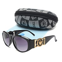 VERSACE Fashion sunglasses women men with zipper case