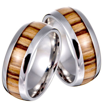 Classic 8mm Stainless Steel Party Wedding Bands For Men