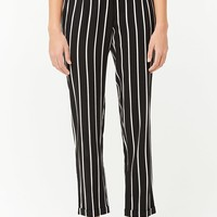 Cuffed Pinstripe Pants