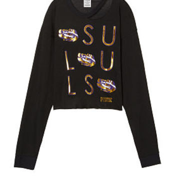 Louisiana State University Long Sleeve Campus Cutout Tee - PINK - Victoria's Secret