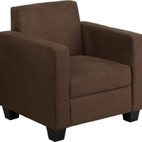 Grand Series Chocolate Brown Microfiber Chair