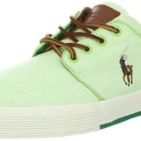 Polo Ralph Lauren Men's Faxon Low Sneaker, Green/Green Grass, 11 D US