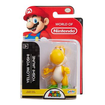 "Yellow Yoshi 2.5"" Mini Figure World of Nintendo NEW Super Mario"