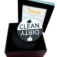 De Dazzle Dishwasher Magnet with Big Clean and Dirty Signs for Easy Visibility and Indication. Works on Metallic & Non-Metallic Dishwashers. Perfect Kitchen Gadget for Home and Gifting.