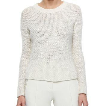 Cable Knit Sweater, Cream, Size: SMALL, ivory - Moncler