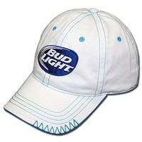 Bud Light White Swoosh Hat