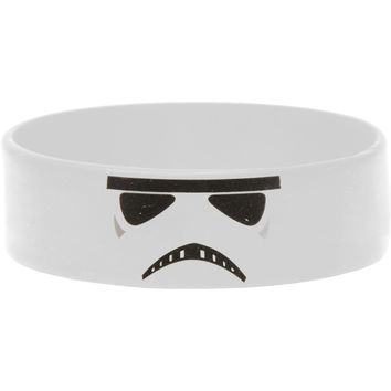 Star Wars Men's Stormtrooper Rubber Bracelet White