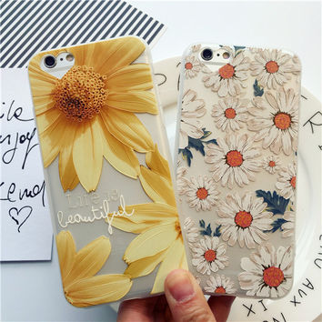 Beautiful daisy mobile phone case for iPhone 6 6s 6plus 6s plus + Nice gift box!